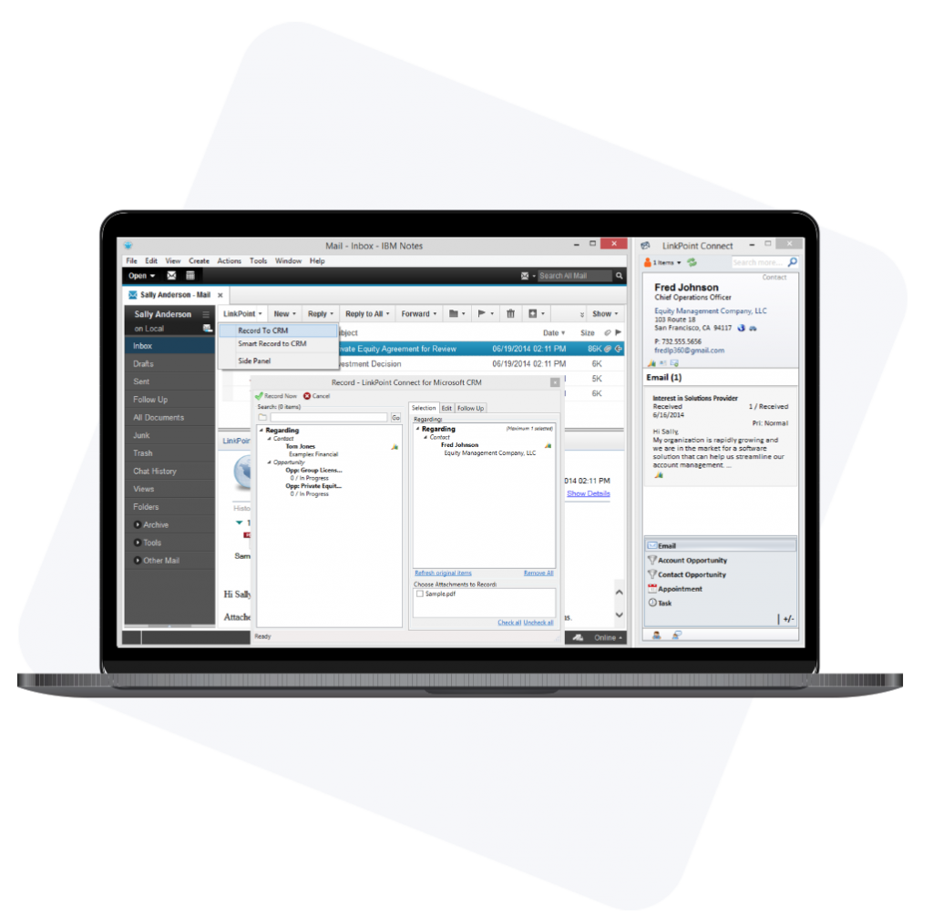 LinkPoint Connect for Microsoft Dynamics computer graphic